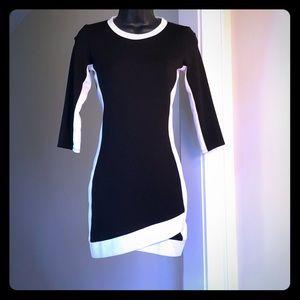 RUBBER DUCKY PRO sz S black white stretch dress